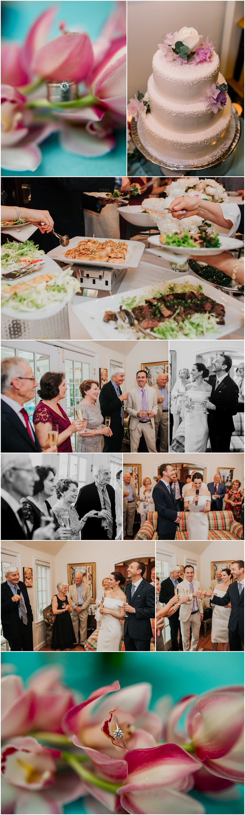 Intimate In-Home Wedding reception - DC Wedding Photographer