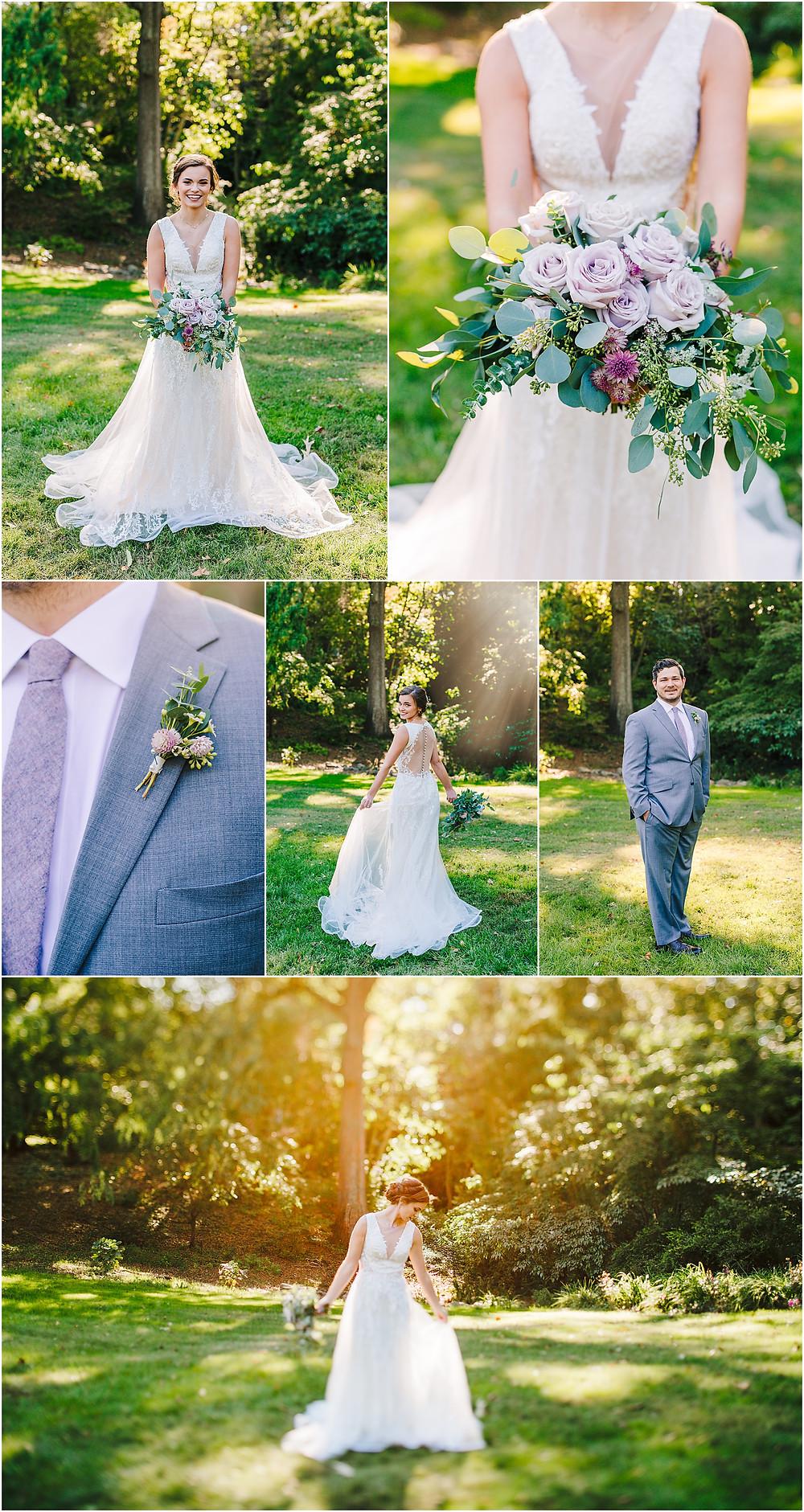Sunny bridals at Maryland Wedding Venue at Historic London Town and Gardens
