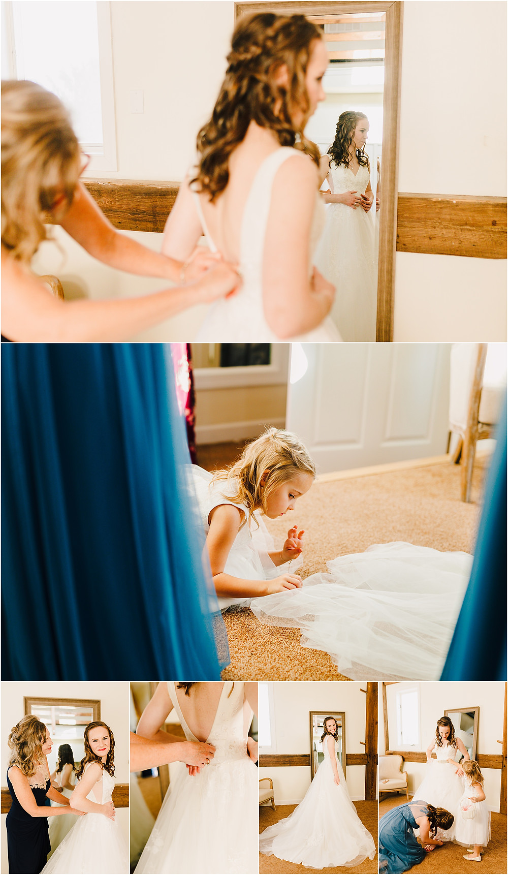 Bride getting ready space at the Tannery Barn