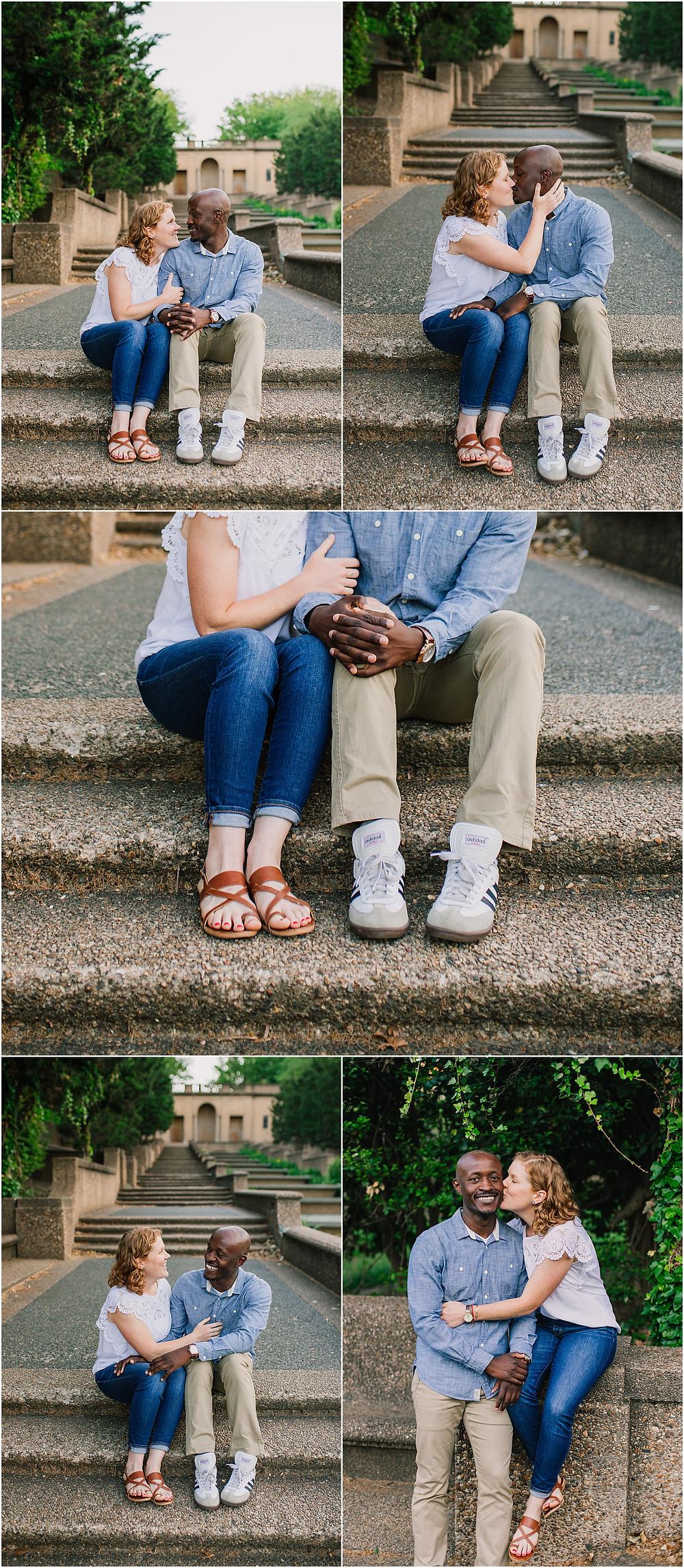 Engagement Portraits at Meridian Hill Park. Washington DC Wedding Photographer