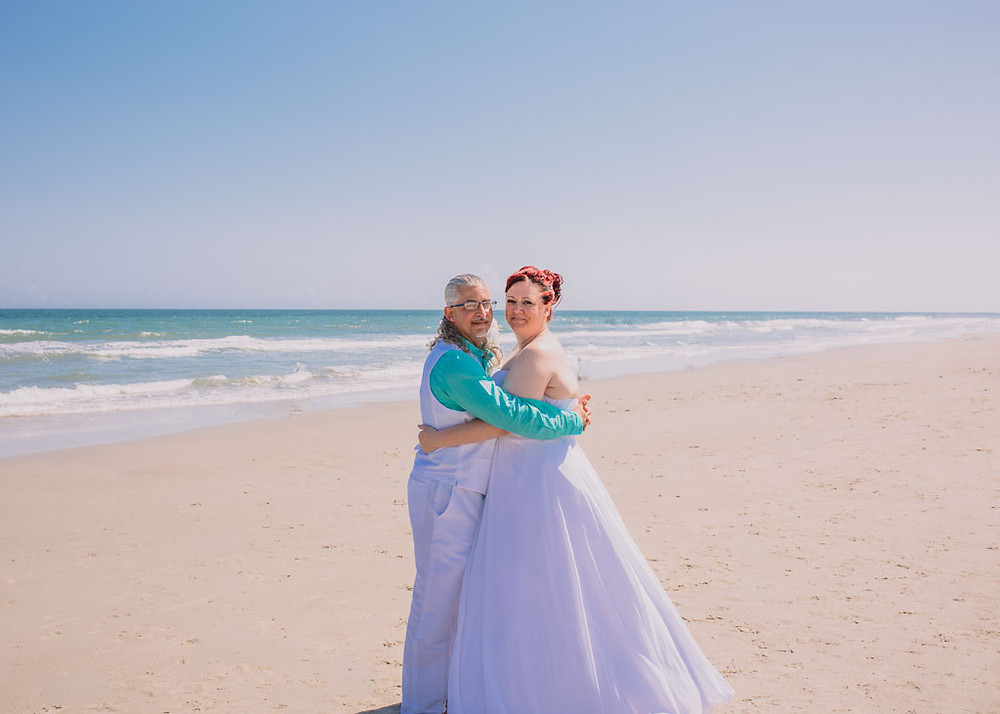 Bride and Groom on the Beach - Maryland Wedding Photographer - Katherine Elizabeth Photography