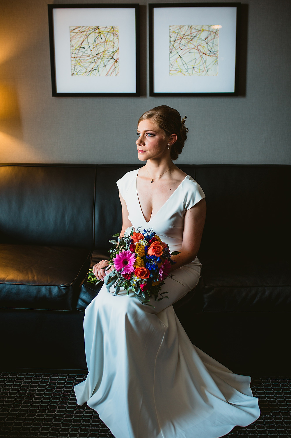 Chic Bridal Portrait at Lord Baltimore Hotel