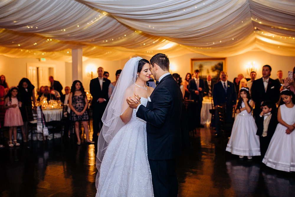 First dance at the mansion at valley country club