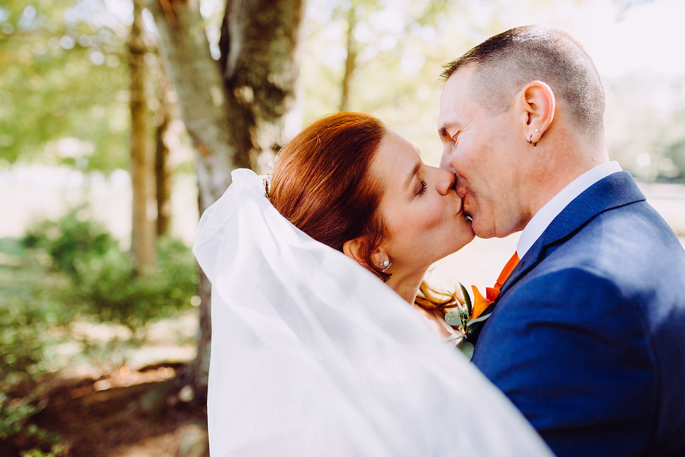 Warm Fall Portrait Quiet Waters Park Wedding Annapolis Maryland