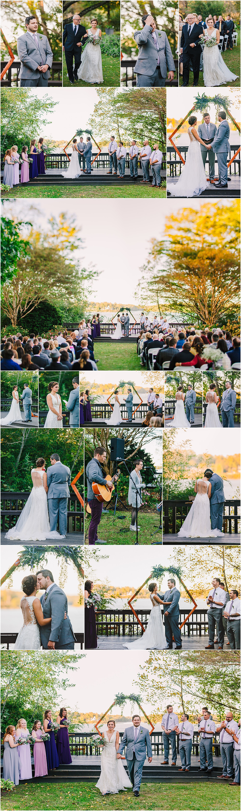 Sunset Wedding Ceremony at London Town and Gardens Annapolis Wedding Photography