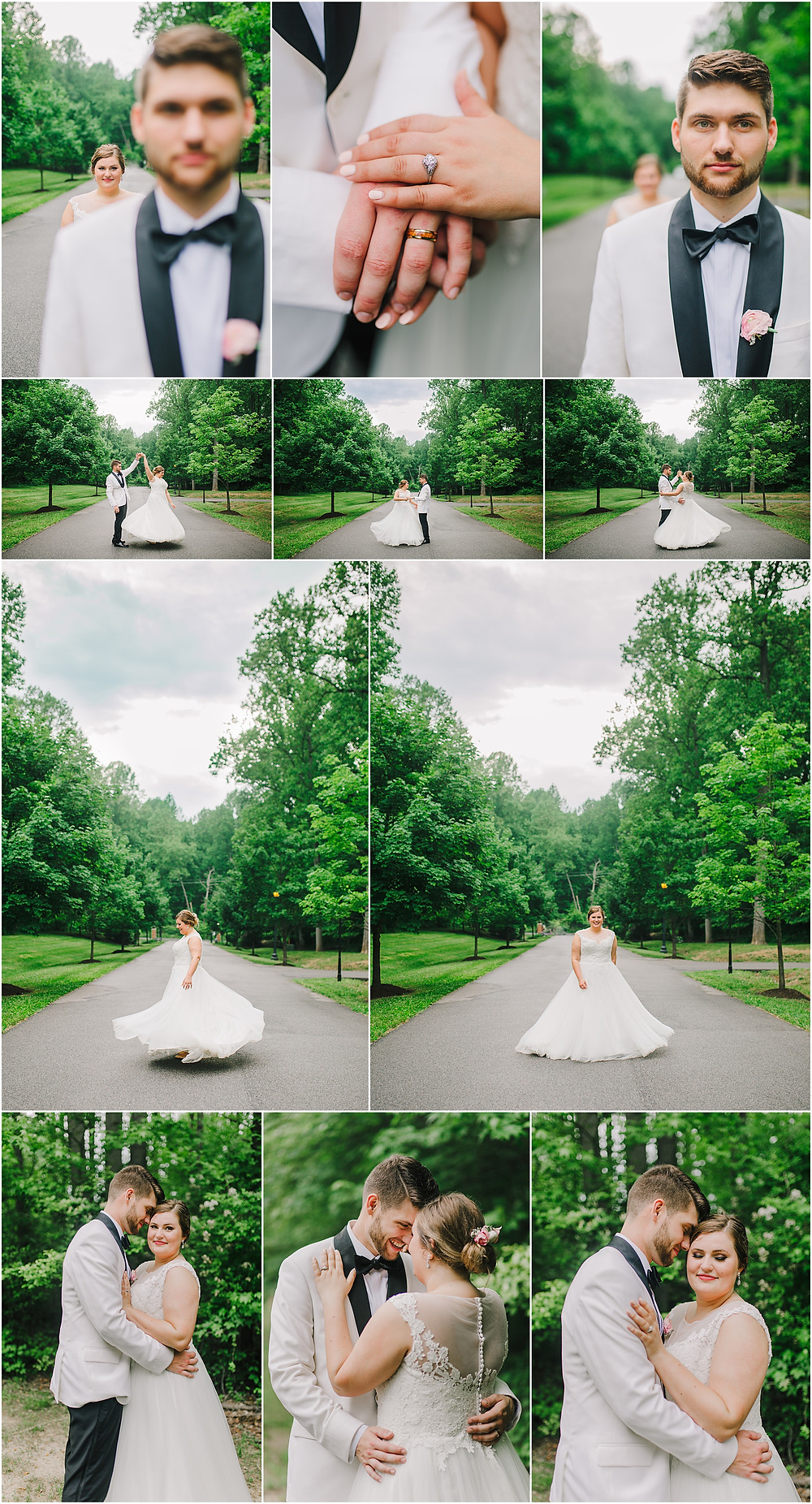 Twirling Spring Bride and Groom Portraits during the reception - Maryland Wedding Photography