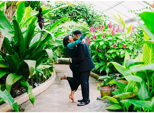 Rawlings Conservatory Engagement Session Feature on Black Bride