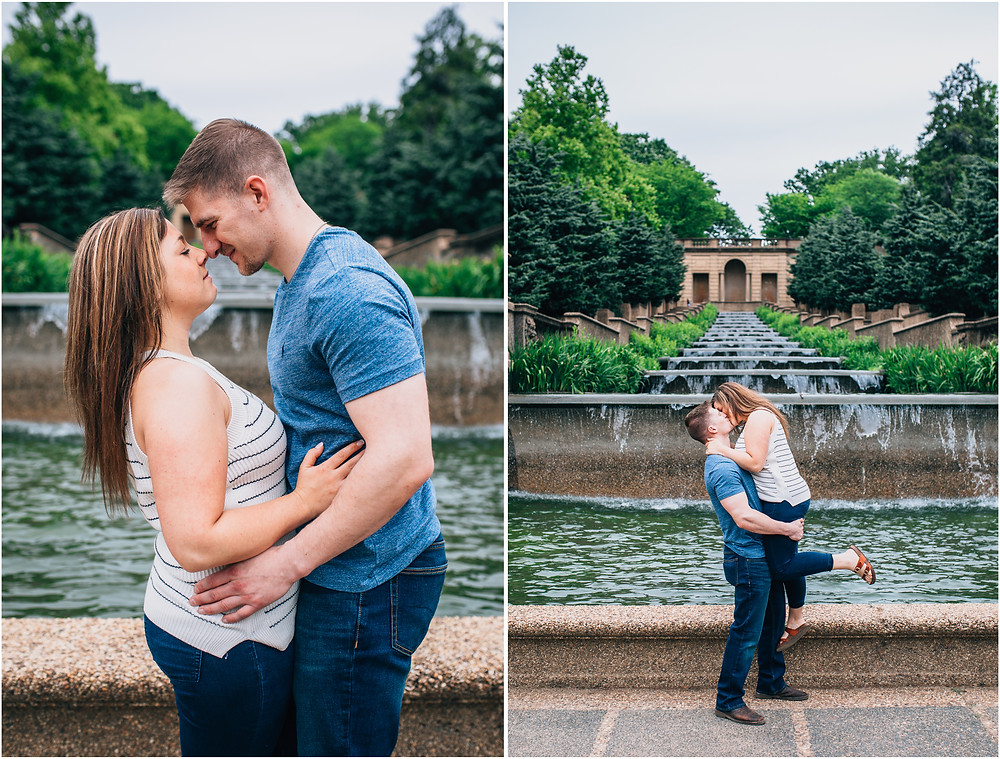 Meridian Hill Fountain Engagement - D.C Wedding Photography