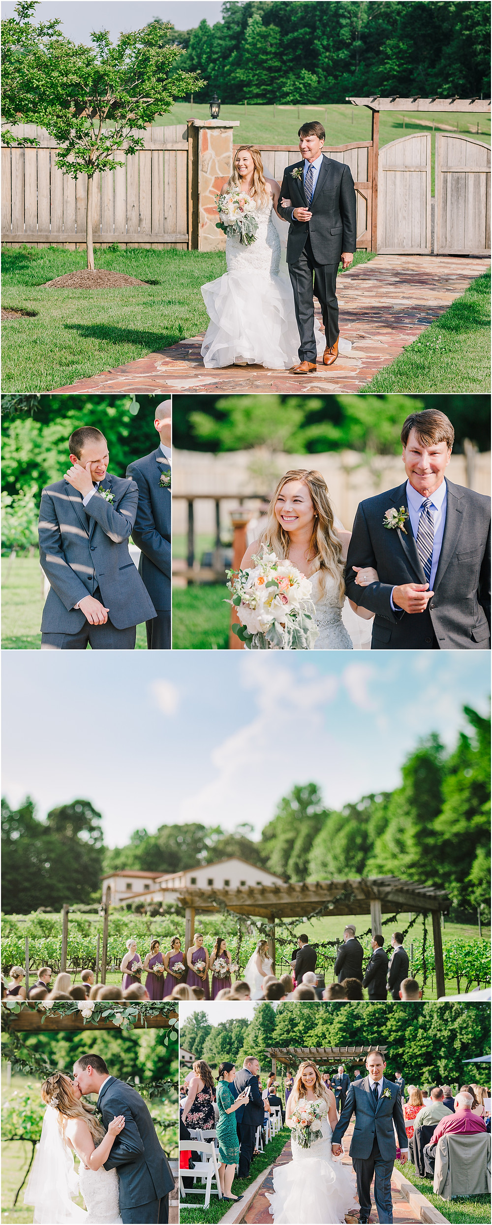June Wedding Ceremony at Running Hare Vineyard - Maryland Wedding Photography