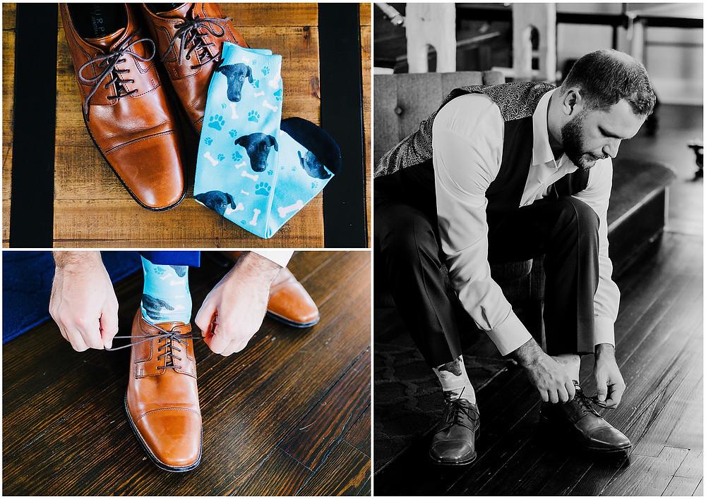 Bohemia's Overlook Wedding - Groom's Getting Ready Details