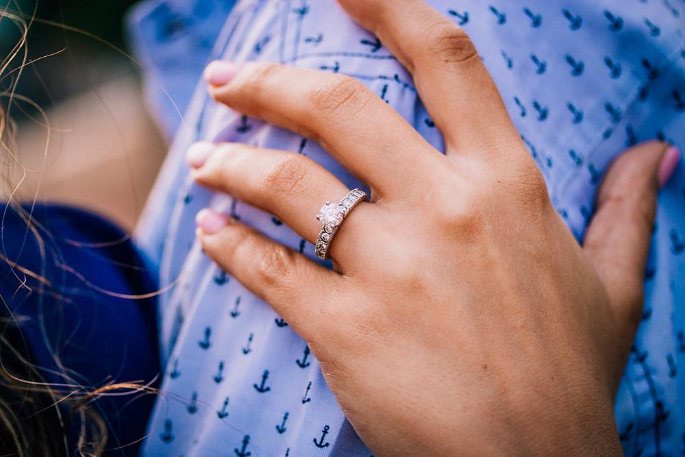 Engagement Ring Inner Harbor Sunrise - Baltimore Maryland Wedding Photography