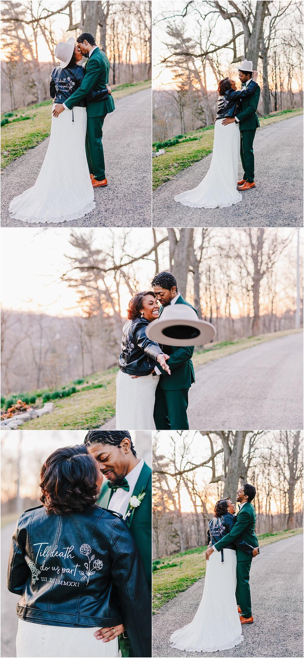 Baltimore Wedding Style at sunset Patapsco Female Institue Wedding Photographer