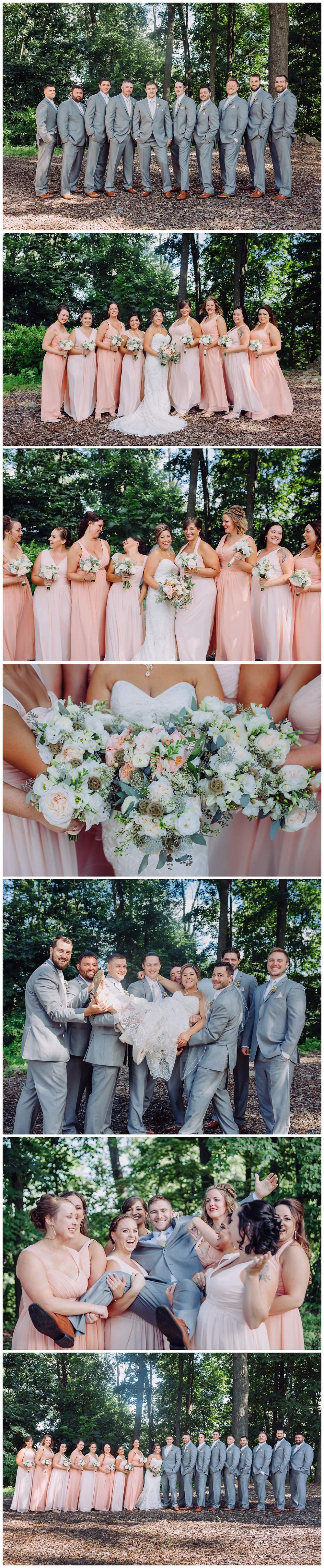 Peaches and Grey Details - Bridal Party Portraits - Katherine Elizabeth Photography - Annapolis Wedding Photographer