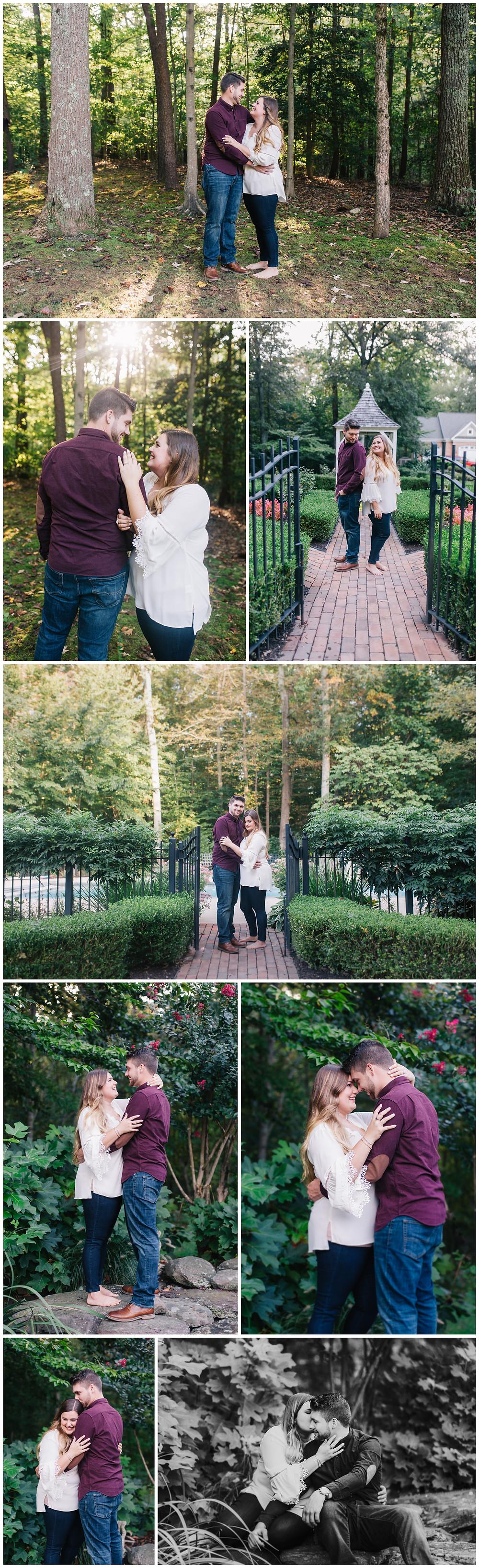 September sunset engagement portraits in Maryland by Katherine Elizabeth Photography