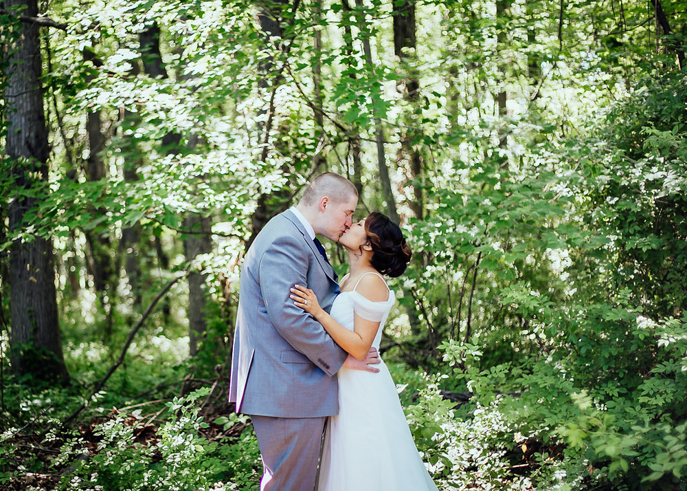 Baltimore Wedding - June Forest Bride and Groom Portraits - Baltimore Wedding Photography
