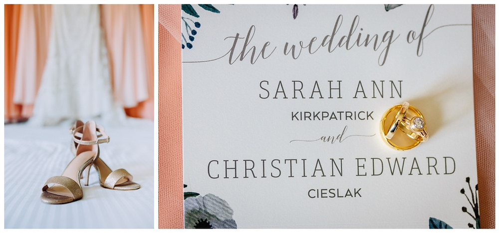 Peach and Gold details - Wedding at Liberty Mountain Resort