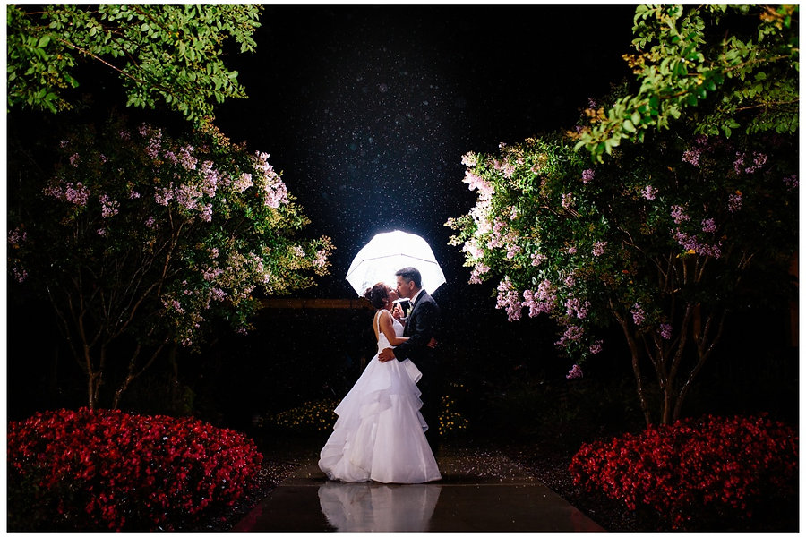 Romantic Wedding Night Portrait - Baltimore Wedding Photography