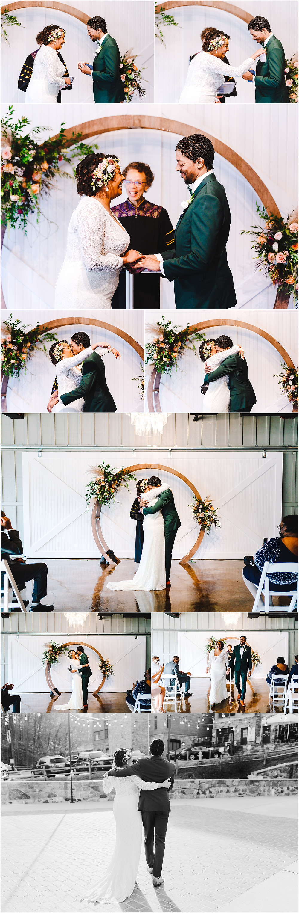 Main Street Baltimore Wedding Ceremony. Baltimore Wedding Photographer