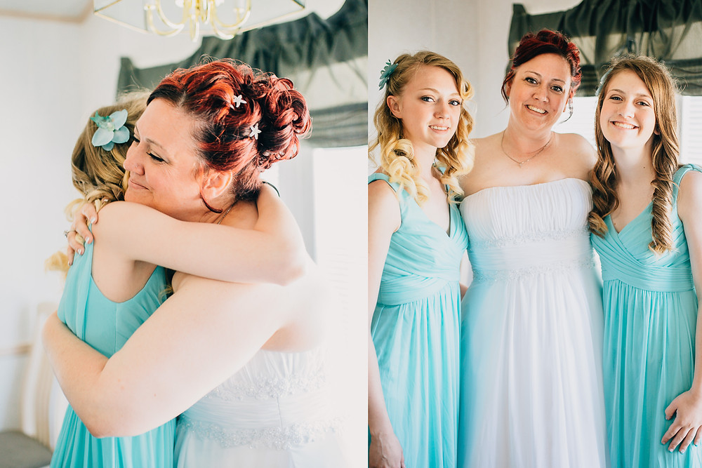 A Bride with her daughters - Maryland Wedding Photographer - Katherine Elizabeth Photography