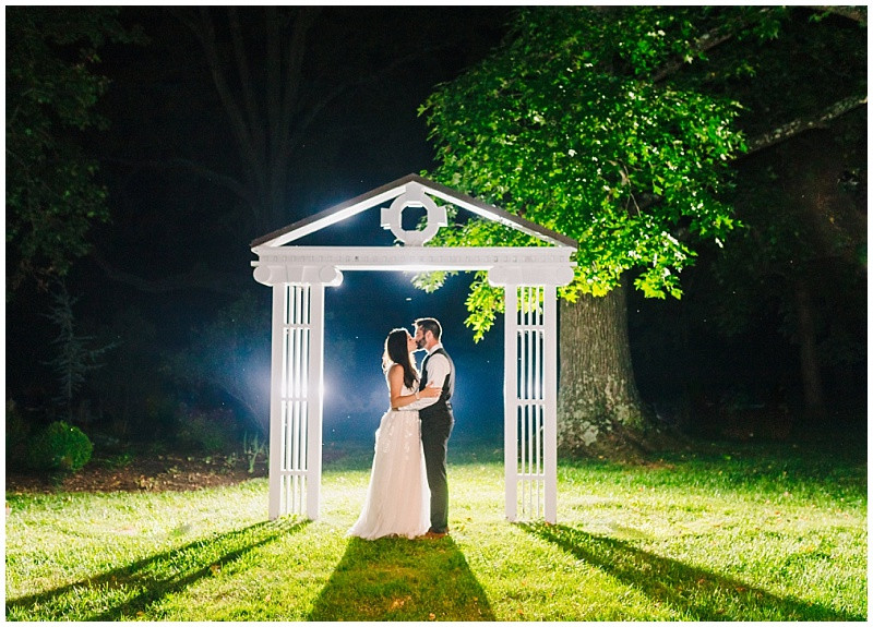Whitehall Manor Wedding Night Portrait Leesburg Wedding Photographer