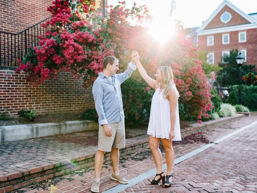 Downtown Annapolis Engagement | Hillary+Kurt | Annapolis Wedding Photographer