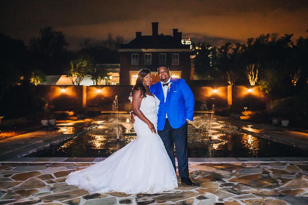 Oxon Hill Manor Night Portrait - Baltimore Wedding Photography