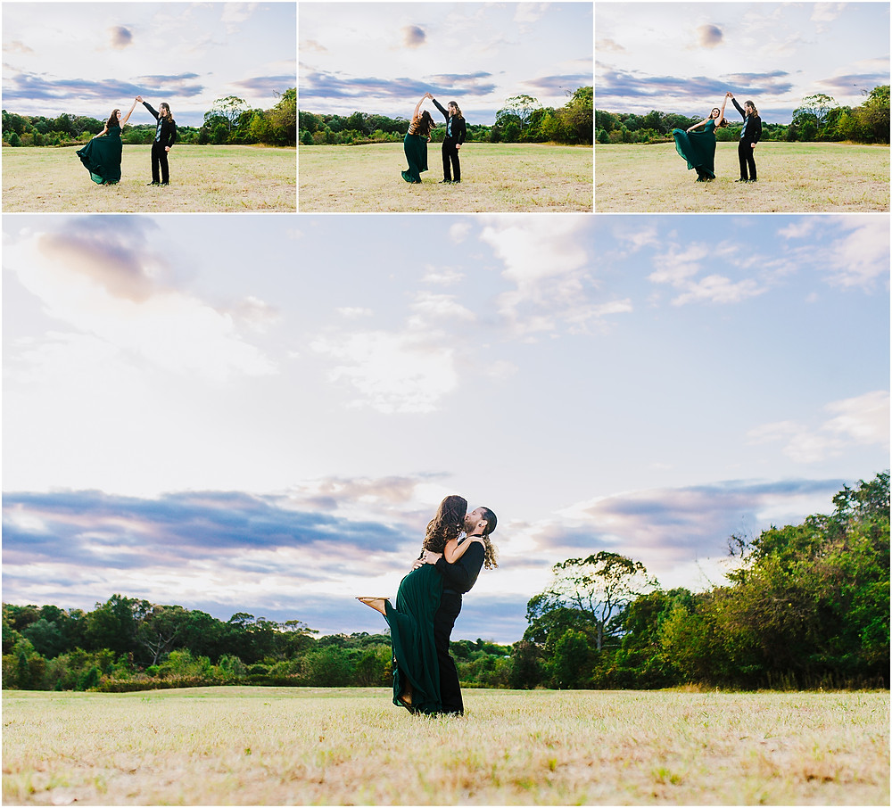 Sunset portraits at Kinder Farm Park Annapolis Wedding Photographer