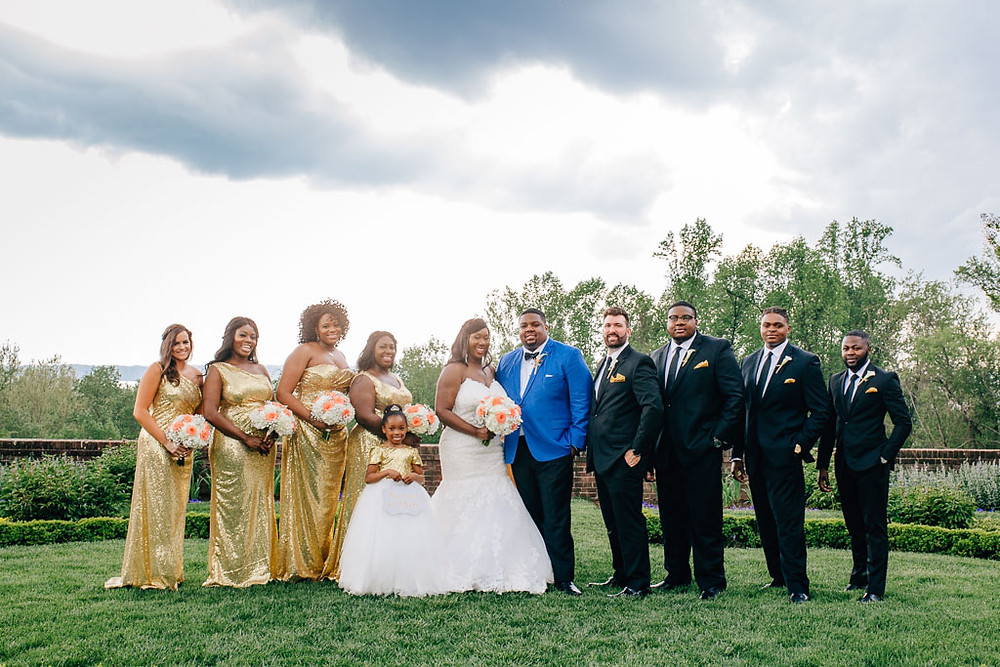 Full Bridal Party - Oxon Hill Manor Wedding