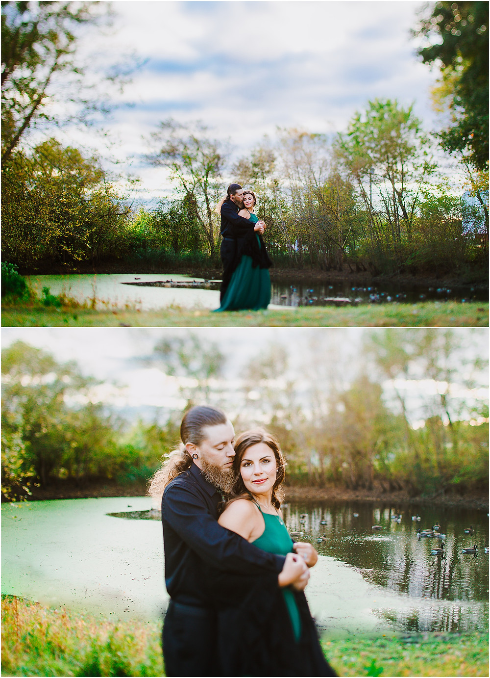 Romantic Tilt-Shift Portrait at Kinder Farm Park - Annapolis wedding photographer