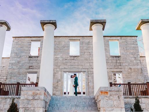 Main Street Ballroom Elopment | Jaquelia + Shane | Patapsco Female Institue Wedding