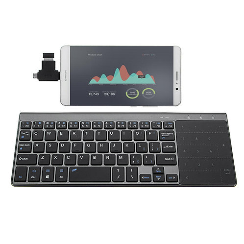 JP136 Ultra Thin 2.4GHz Wireless Keyboard with Touch Pad