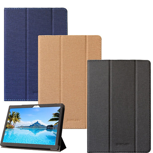 PU Leather Folding Stand Tablet Case Cover for 10.1 Inch Teclast M30 Tablet