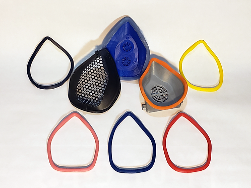 Silicone Seals for DIY and 3D Printed Face Masks, Respirators and Frames