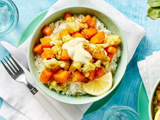 Curry-Spiced Cauliflower and Squash