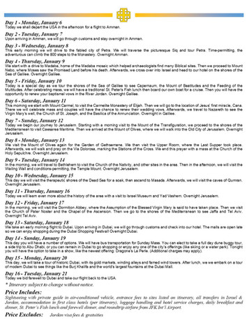 2020 Holy Land - Flyer page 2
