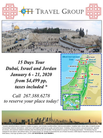 2020 Holy Land - Flyer page 1