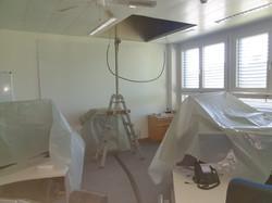 Deckendurchbruch in einem Büro