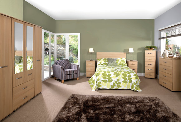 Solo Bedroom Set - Light Oak