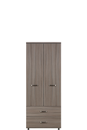 Solo 2 Door  Drawer Wardrobe