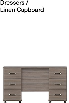Solo 6 Drawer Double Dressing Table