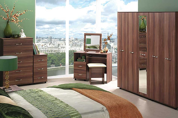 Solo Bedroom Set - Walnut