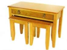 Nesting table with drawer