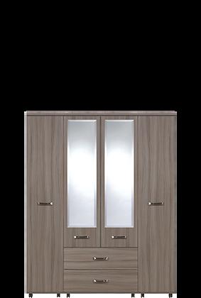 Solo 4 Door 2 Mirror 2 Drawer Wardrobe