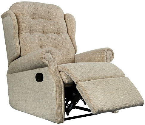 Woburn fabric manual recliner with catch or handle