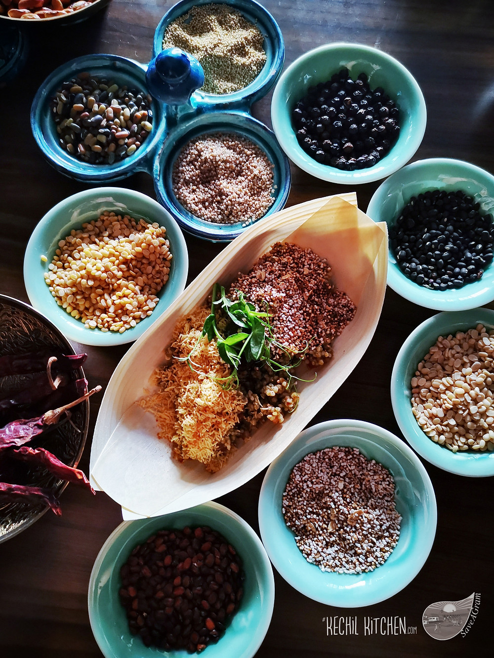 Black Pepper, Urad dal, Amaranth, Barnyard Millet, Black Urad, Naurangi Dal, Fenugreek seeds, Red Chilli
