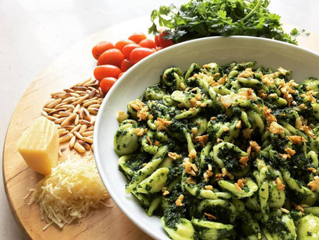 Bayam Pesto for your Pasta!
