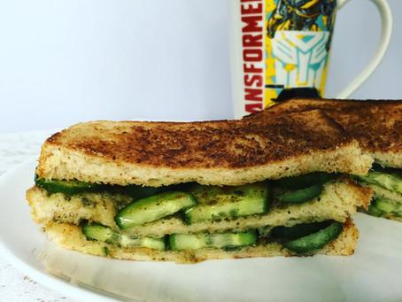 Triple Decker Coriander-Mint Chutney Sandwich!
