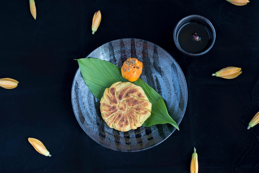 Puran/ Pooran Poli | Chempadak | Ghee | Dried Peppermint