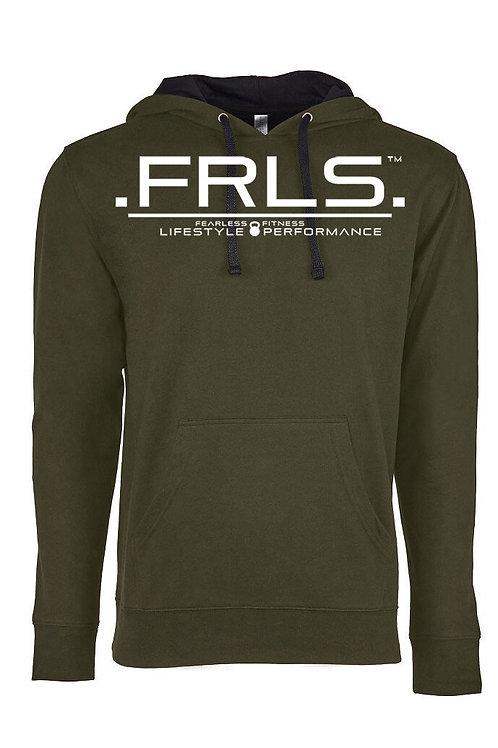 FRLS Unisex Hoody Military Green/Black