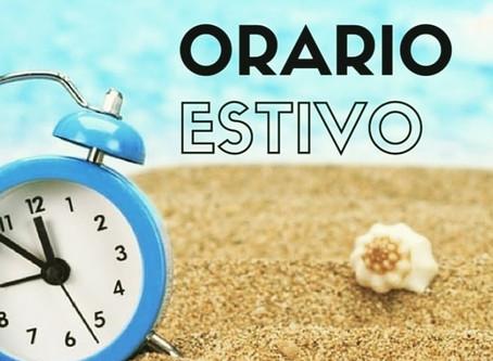 Nuovi orari estivi validi fino al 15/08/2020